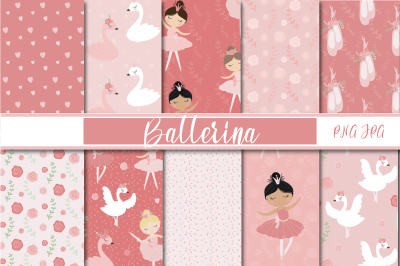 Ballerina and swans paper