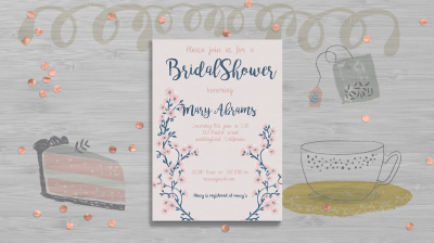 Bridal Shower Floral template