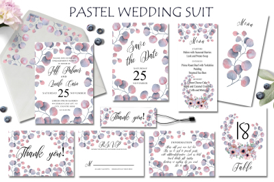 Pastel Floral Wedding Suit