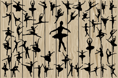 50 Ballet SVG, Ballet silhouette Clipart, Dancer, Ballerina.