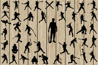 43 Baseball Silhouette SVG, Baseball Vector, SoftBall, Sport.