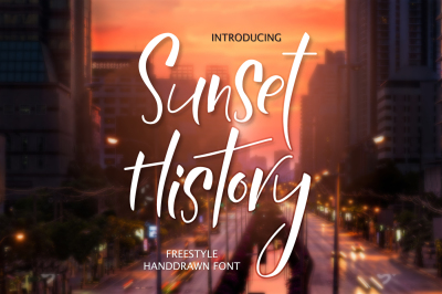 Sunset History-freestyle font