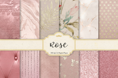 Rose Gold Digital Paper