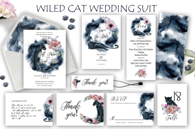 Wiled Cats Wedding Suit