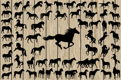 62 Horse Silhouette SVG, Horse Vector, Running Horse SVG, Cutting File