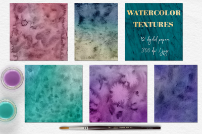 Vintage Watercolor Textures
