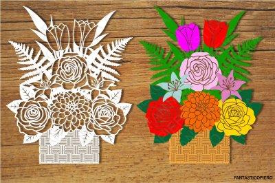 Floral Decoration 4 and Floral Decoration separate elements SVG files