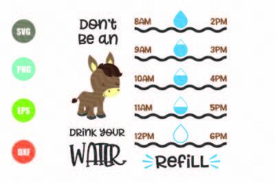 Water Tracker SVG, Donkey SVG