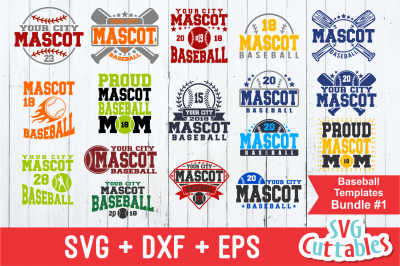 Baseball svg Template Bundle #1, svg cut file