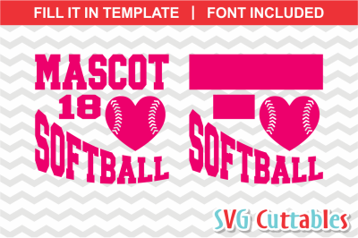 Softball svg Template 0016, svg cut file