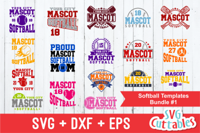 Softball svg Template Bundle #1, svg cut file