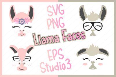 llama svg, llama cut file, llama clipart, llama face