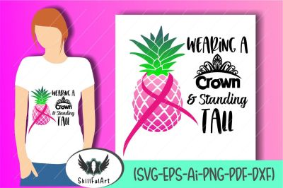 breast cancer svg, be a pineapple, cancer awareness, breast cancer