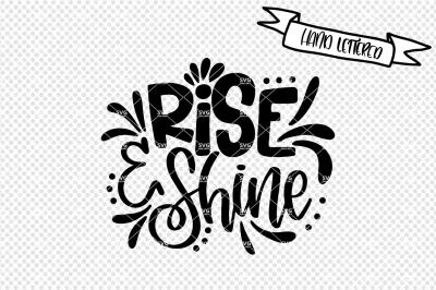Rise and shine svg cut file, morning svg