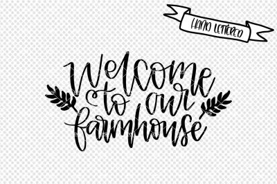 Welcome to our farmhouse svg cut file, farmhouse decor svg
