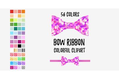 Bow clipart, Rainbow scrapbooking clip art, bow clipart, pretty clipar