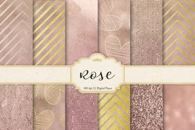 Rose & Digital Paper