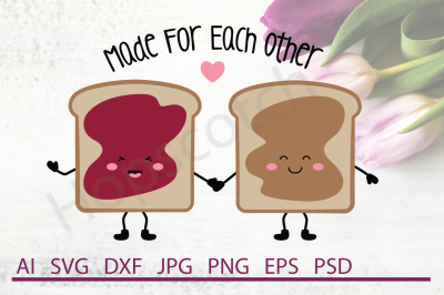 Peanutbutter and Jelly SVG, Peanutbutter and Jelly DXF, Cuttable File