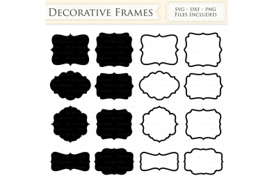 Decorative Frames SVG Files - Frame Outline