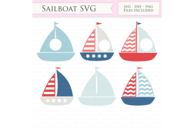 Nautical SVG Files - sailing boat svg cut file