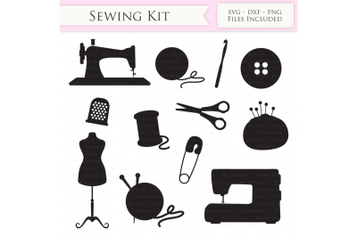 Sewing Machine SVG - Knitting SVG cutting files