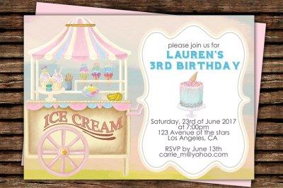 Ice Cream Printable Invitation