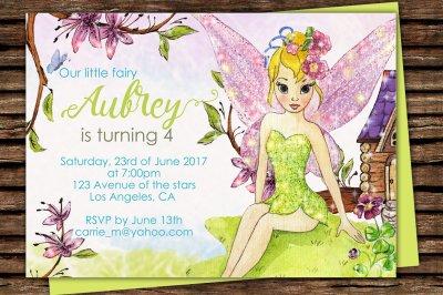 Fairy Printable Invitation