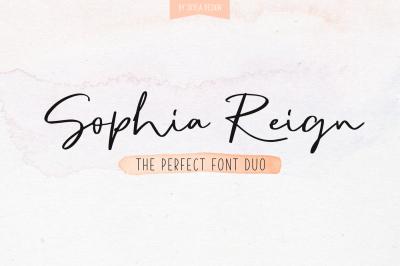 Signature font duo Sophia Reign