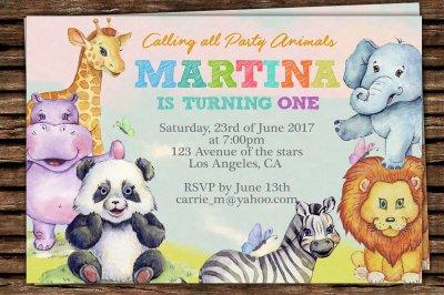 Animals Printable Invitation