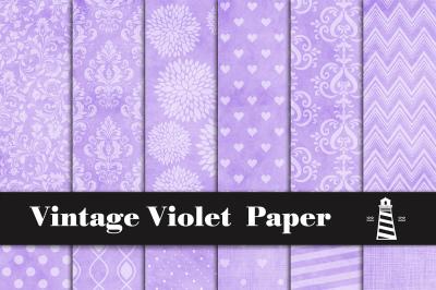 Vintage Violet Digital Paper