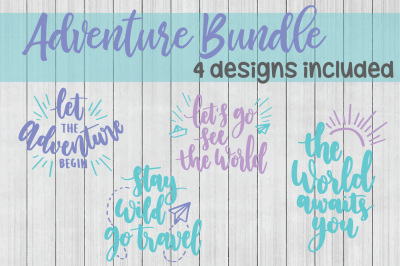 Adventure SVG Bundle, Travel SVG Bundle, DXF File, Cuttable File