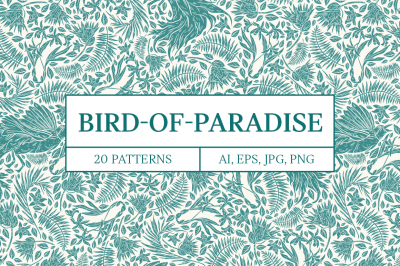 Bird-of-Paradise patterns