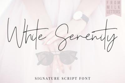 White Serenity Signature Font