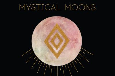 MYSTICAL MOONS: Watercolor & Gold