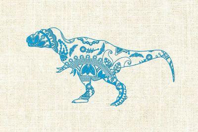 Mandala dinosaur SVG DXF PNG EPS AI