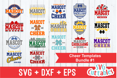 Cheer Template Bundle #1, svg cut files