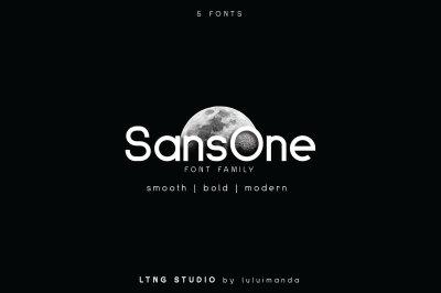 SansOne Family font