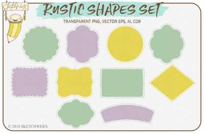 Rustic Shapes Set