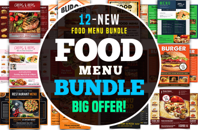 Restaurant Menu Flyer Bundle