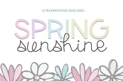 Spring Sunshine - A Serif & Script Font Duo