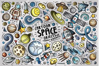 Space Cartoon Objects Set