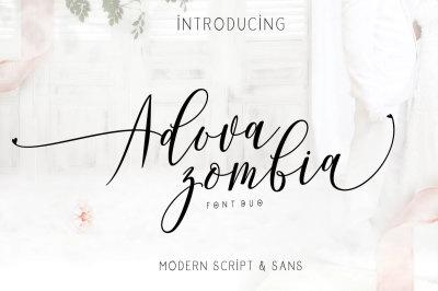 Adova Zombia | Font Duo