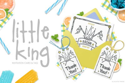 Little King - Invitation Set - kids and boys