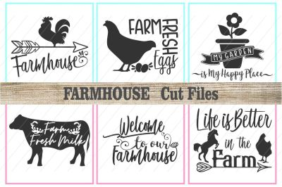 farm svg, farmhouse svg, farm signs, cut files