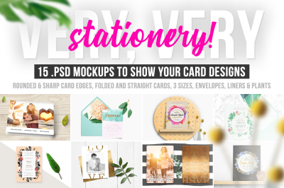 Very, Very Stationery! 15 Photoshop Card Mockups