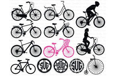 Bicycle SVG, Biking, Bike SVG files for Silhouette Cameo and Cricut