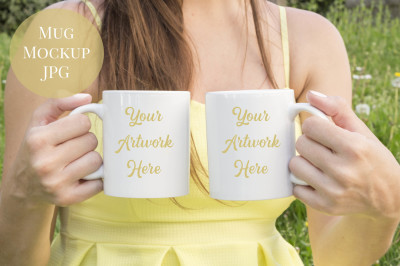 Double Mug Mockup - Spring/Summer