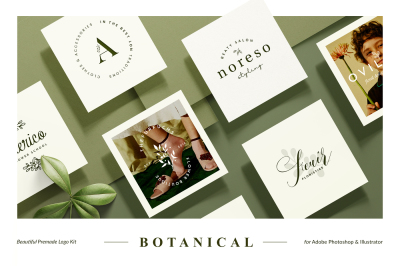 18 Botanical Logo Kit