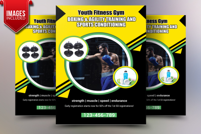 Youth Fitness Flyer Template