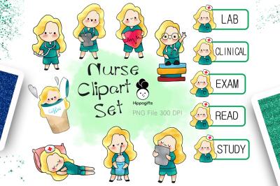 Blonde hair nurse clipart